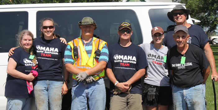 Omaha Rapid Response team with van